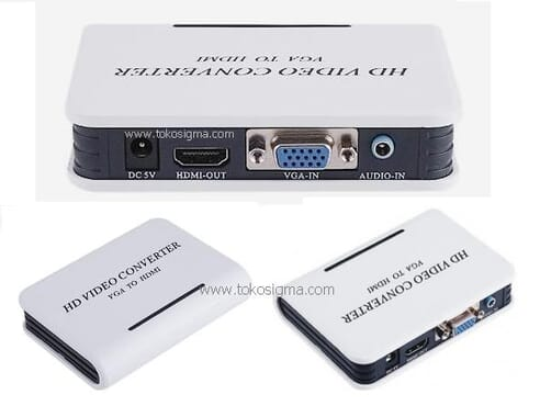 HDMI to VGA Converter Adapter Box With Audio 1080p for PC Laptop PS3 Projector Media Streaming Device